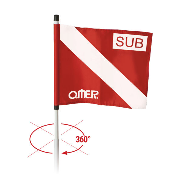 Rotating flag for buoy